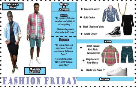 Fashion Friday with Marcus Levant and Madena Kusi
