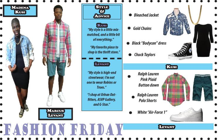 Fashion+Friday+with+Marcus+Levant+and+Madena+Kusi