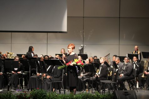 The last song Susan Pawlak played in her final symphonic band concert as H-F's pianist. The final song was dedicated to Pawlak and after she receives a bouquet of flowers.