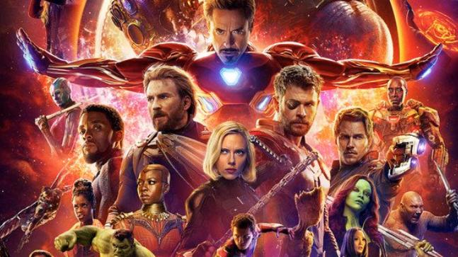 Facing greater forces The Avengers are surrounded by their new allies such as the Guardians of the Galaxy and the Black  Panther and his team from Wakanda. Avengers: Infinity War comes out April 27.