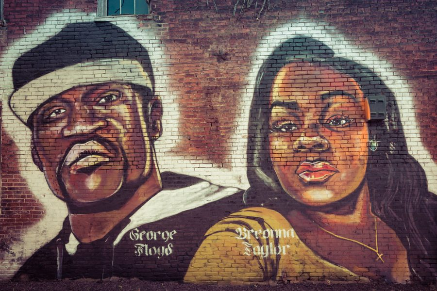 A+mural+of+George+Floyd+and+Breonna+Taylor+in+Louisville%2C+KY.