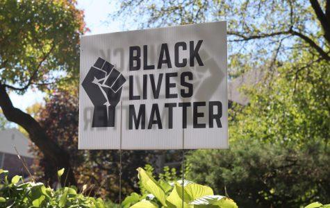 Black Lives Matter sign in the H-F community.