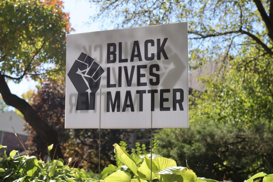Black Lives Matter sign in the H-F community.