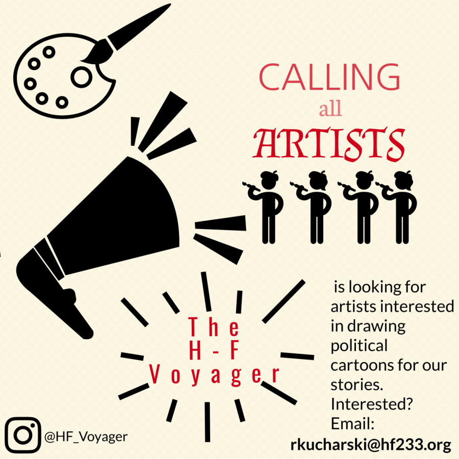 We are always looking for artists to create images for our paper, either for our stories or to be featured in our Artchive. Email our newspaper sponsor, Rachael Kucharski (rkucharski@hf233.org), if you are interested in contributing.
