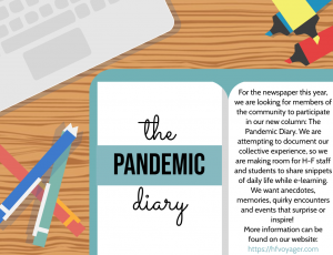 Contribute to our Pandemic Diary. See the Feature section for details.