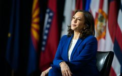 Senator Kamala Harris at the announcement as candidate for Vice President of the United States on Aug. 12.