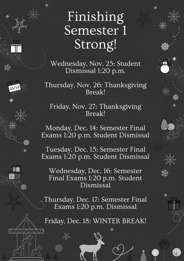 Check out the remainder of semester one of the 2020-2021 school year!