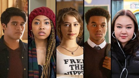 Grand Army cast, [Left to right: Sid, Dominique, Joey, Jayson, Leila]