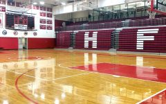 H-F's gym, usually packed with student athletes at this time of year, sits empty on a weekday afternoon. Winter sports, including boys' and girls' basketball, are postponed until further notice.