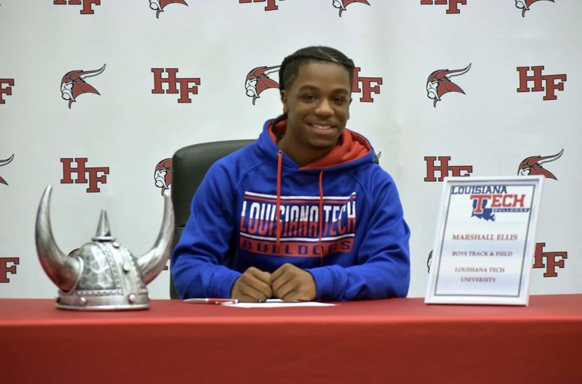 Ellis is all smiles after committing to Louisiana Tech University. Ellis committed on Dec. 16.