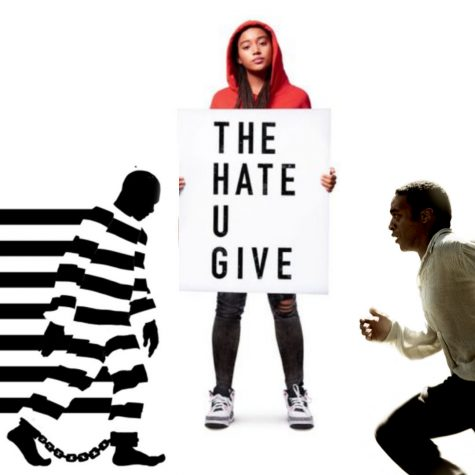 Collage of all three recommended movies: (from left to right) 13TH, The Hate U Give and 12 Years a Slave.