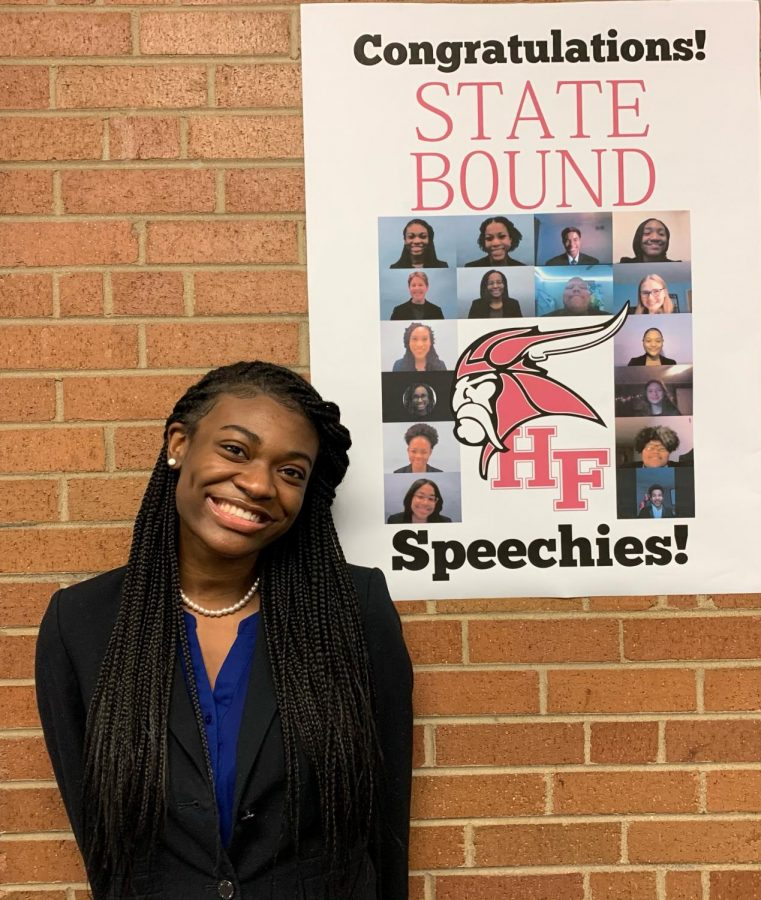 Senior+Vicky+Olaleye+smiles+for+a+picture+after+a+successful+20-21+Speech+season.+