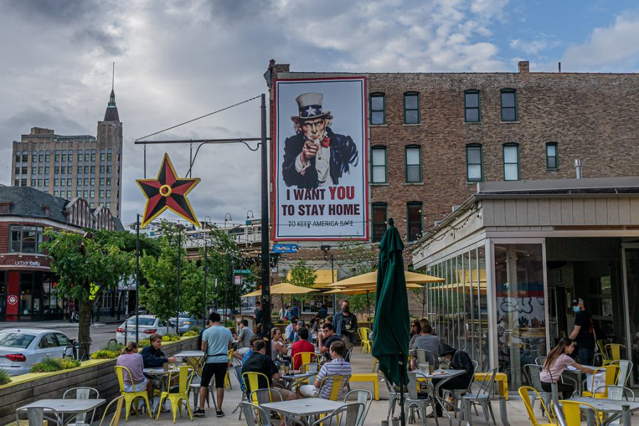 People dine at Big Star Restaurant on June 10, 2020, in Wicker Park, Chicago.