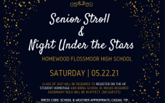 The flyer for the Senior Stroll and Night Under the Stars. The event will take place on May 22.