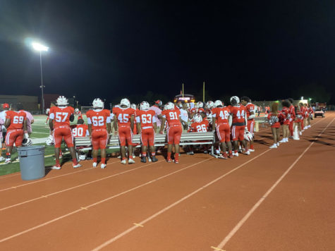 H-F Varsity team at the 2021 Homecoming game.