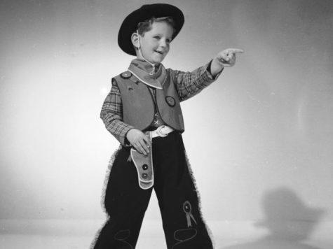 Boy dressed as a cowboy, 1953