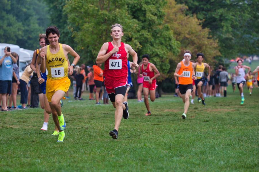 Senior Trip Shonkwiler running in the Peoria Invite at Detweiller Park on Oct. 2.