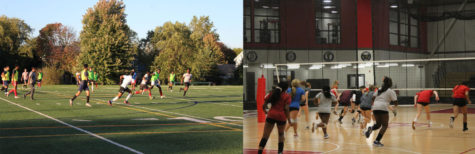 H-F boys and girls sports hard at work,